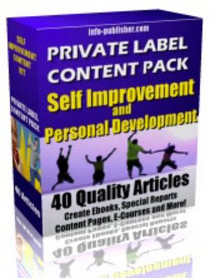 Product picture Personal Development PLR Articles