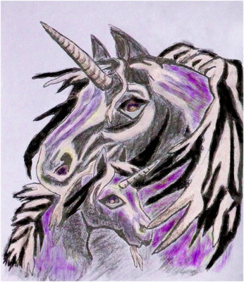 Product picture Royalty Free Image - Mother and Child Unicorn - With Master Resell Rights